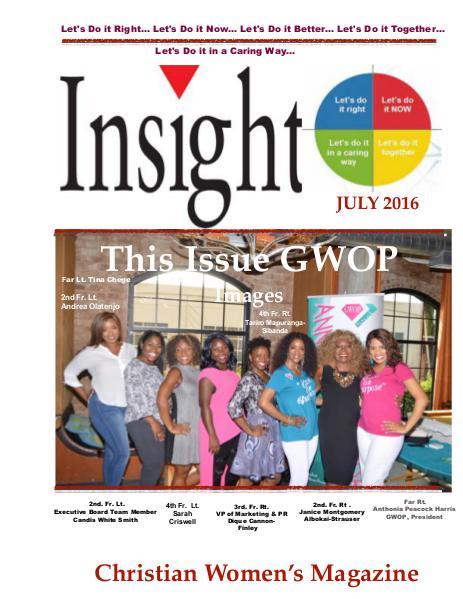 Insight Christian Women's Magazine July 2016 July Issue