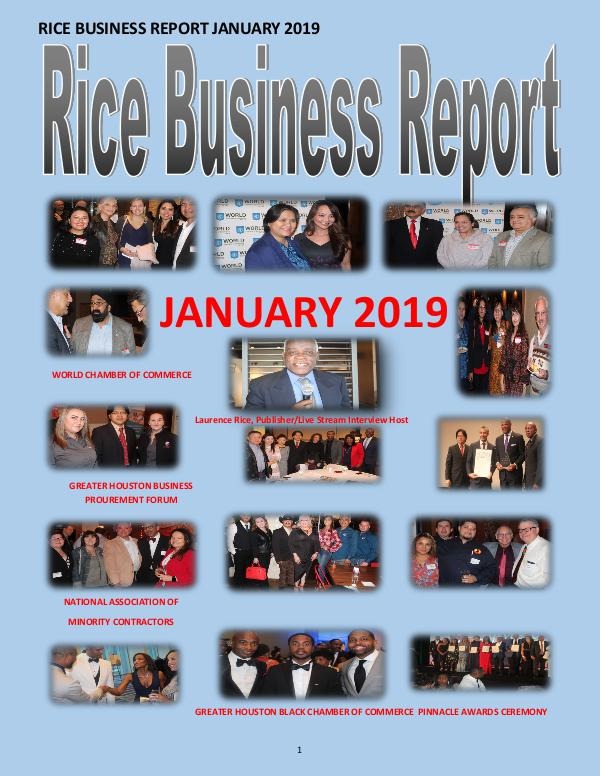 Rice Business Report January 2019 3xxxx January 2019 3xxxxxx