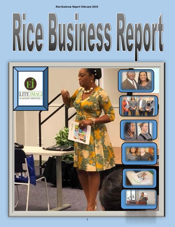 Rice Business Report February 2019 zzzzzzxxxxxx February 2019 Rice Business Reportxxxxxxxxxxxxzzzz