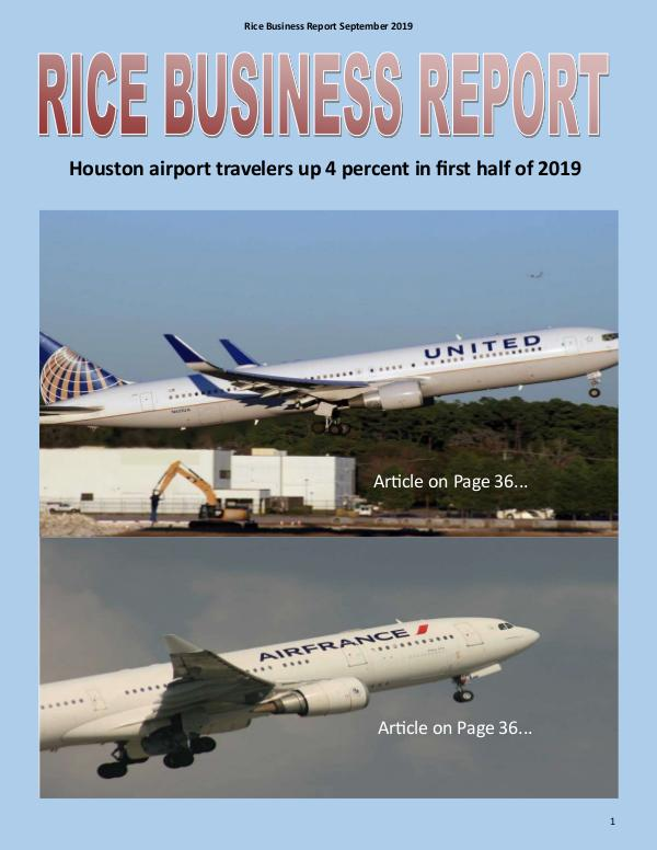 Rice Business Report September 2019 September 2019 Rice Business Report