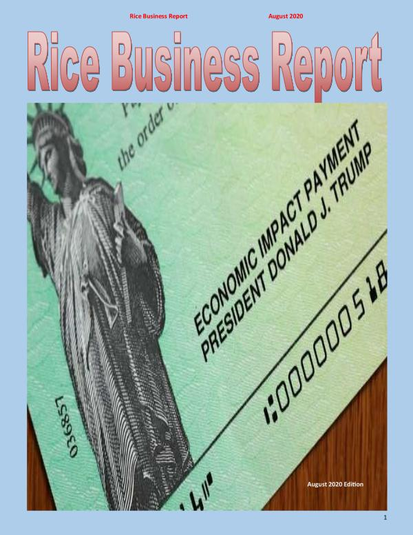 Rice Business Report August 2020
