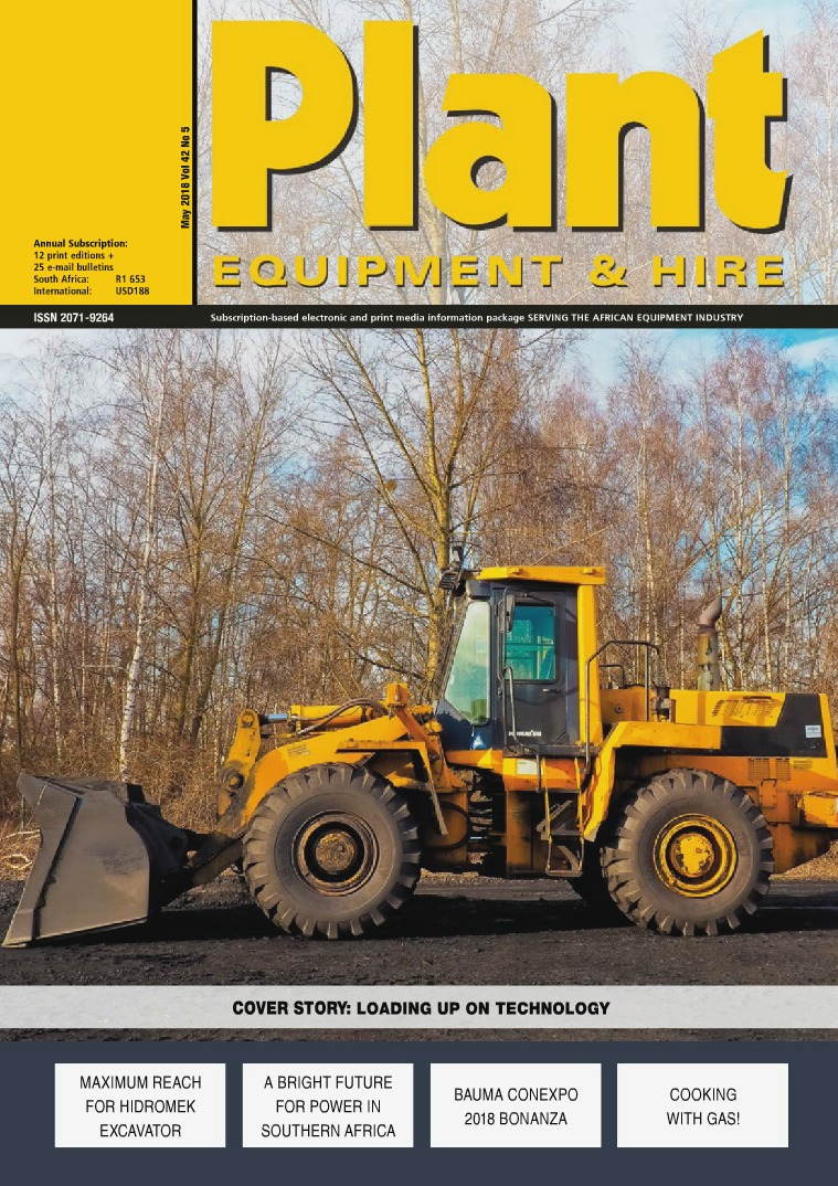 Plant Equipment and Hire May 2018