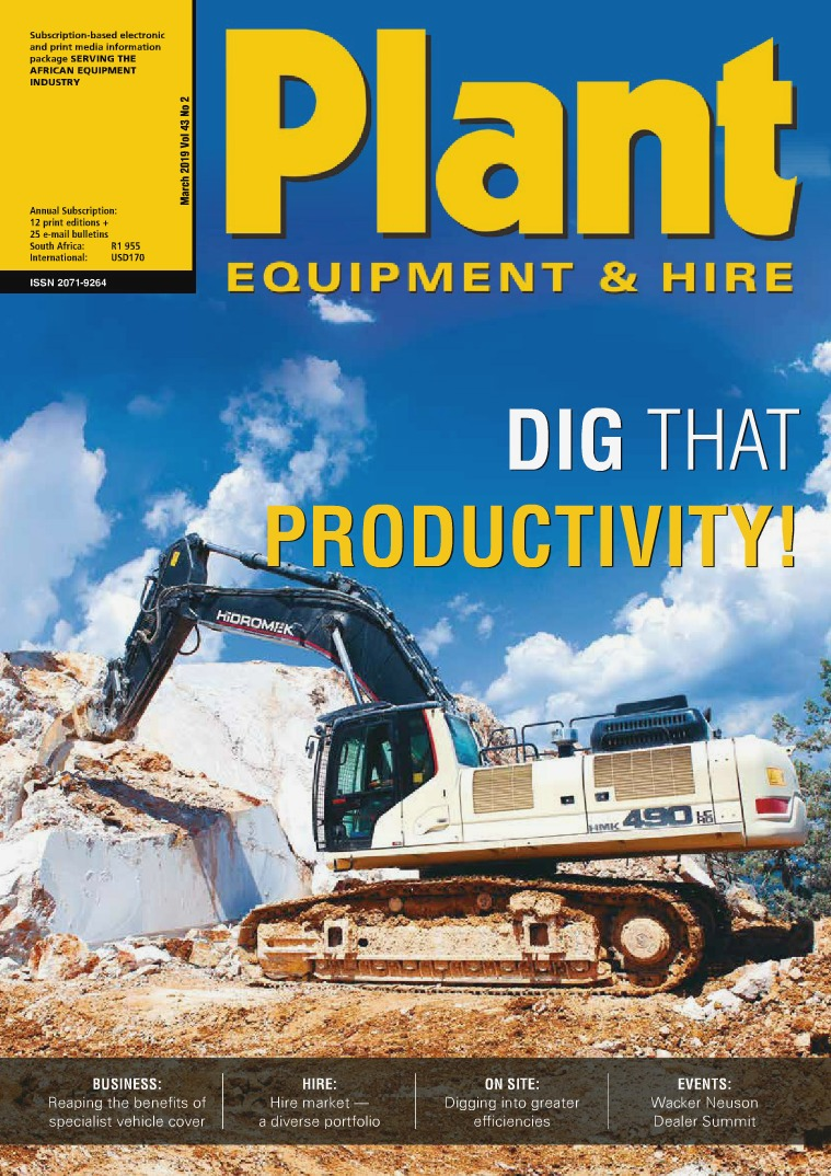 Plant Equipment and Hire March 2019