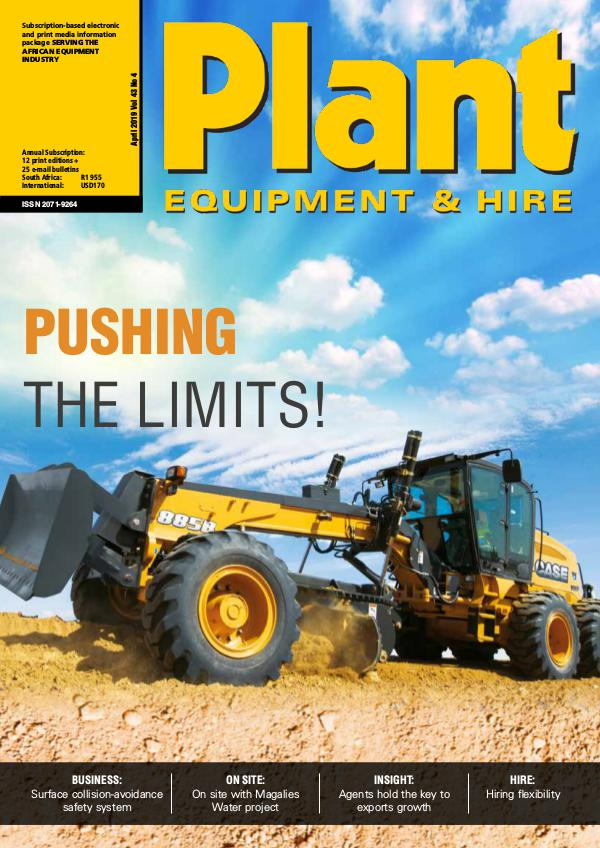 Plant Equipment and Hire April 2019