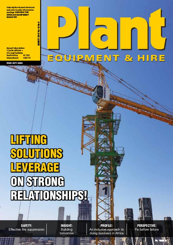 Plant Equipment and Hire August 2019