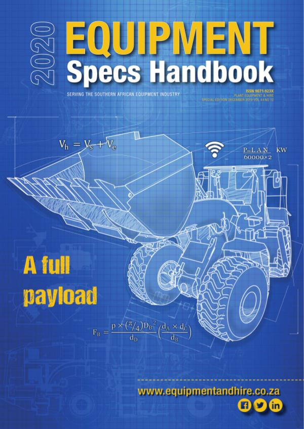 Plant Equipment and Hire Equipment Specs Handbook 2020
