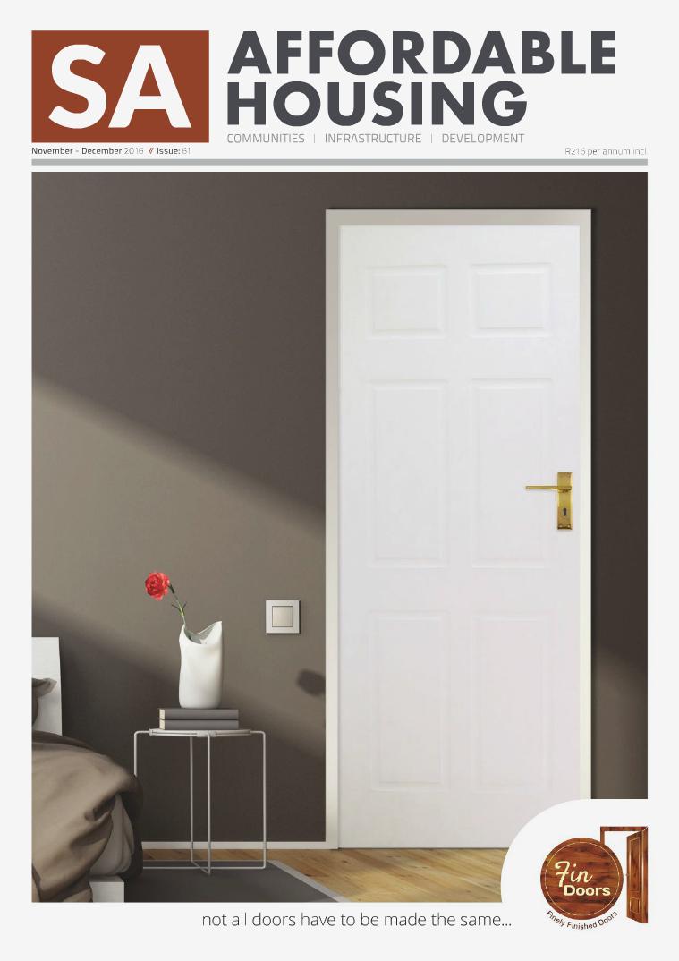SA Affordable Housing November / December 2016  //  Issue: 61