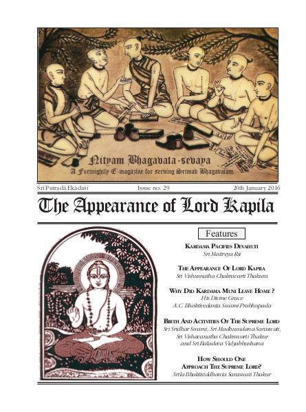 NBS#29 The Appearance of Lord Kapila Jan. 2016