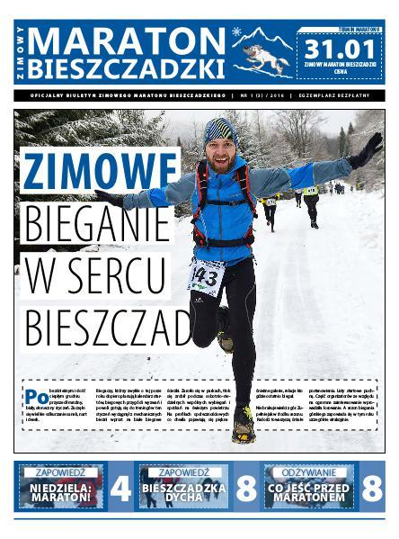 Biuletyn Maraton Bieszczadzki Maraton Bieszczadzki nr 1 (3) / 2016