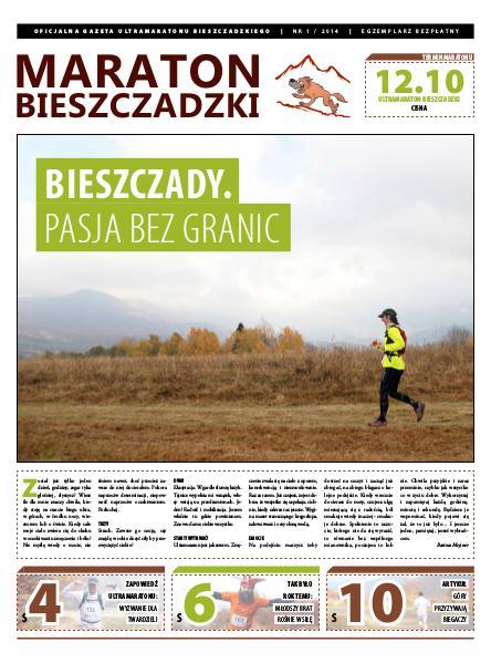 Biuletyn Maraton Bieszczadzki Maraton Bieszczadzki nr 1 / 2014