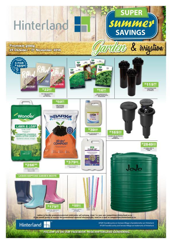 Hinterland Promotions Summer Garden Promo