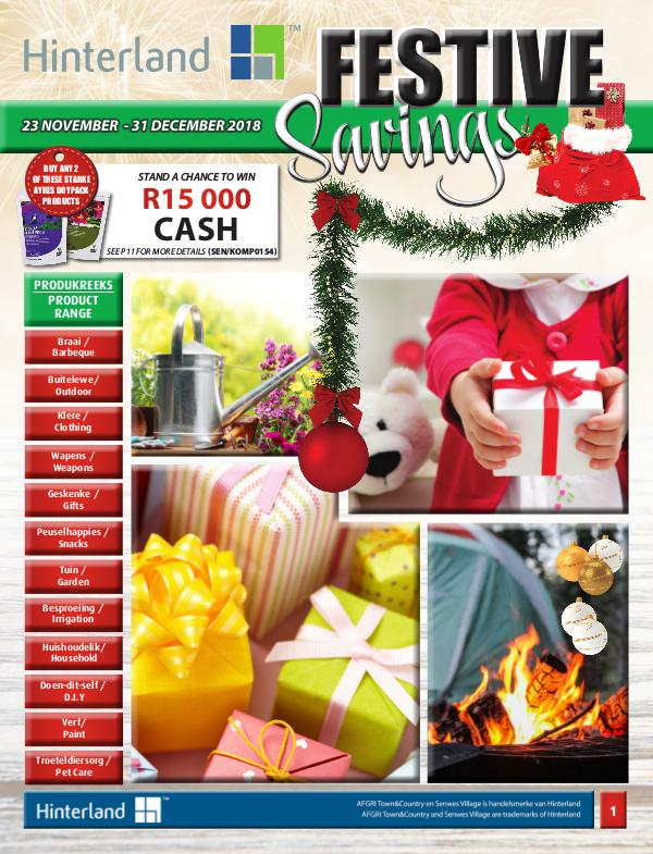 Hinterland Promotions Hinterland Festive Savings