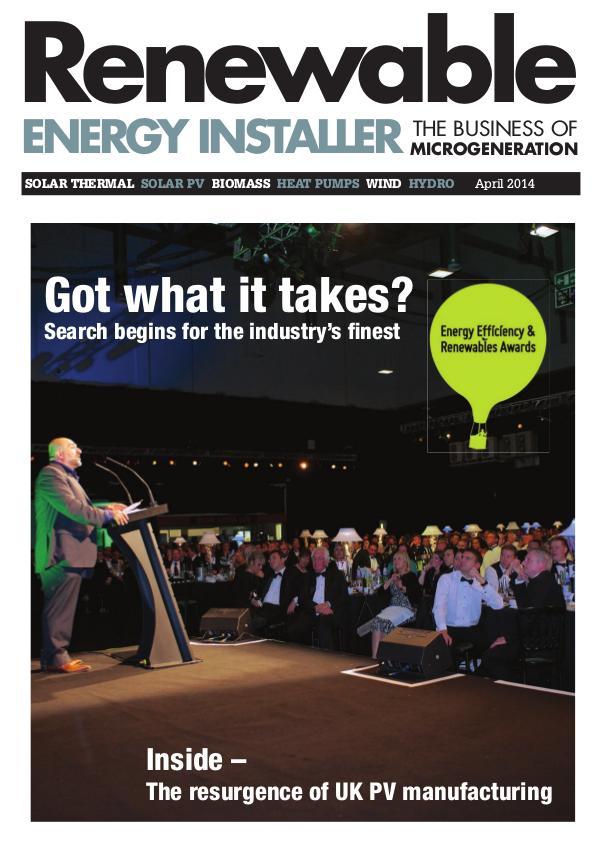 Renewable Energy Installer April 2014
