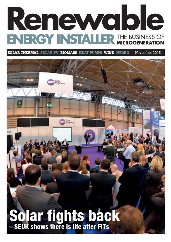 Renewable Energy Installer November 2015