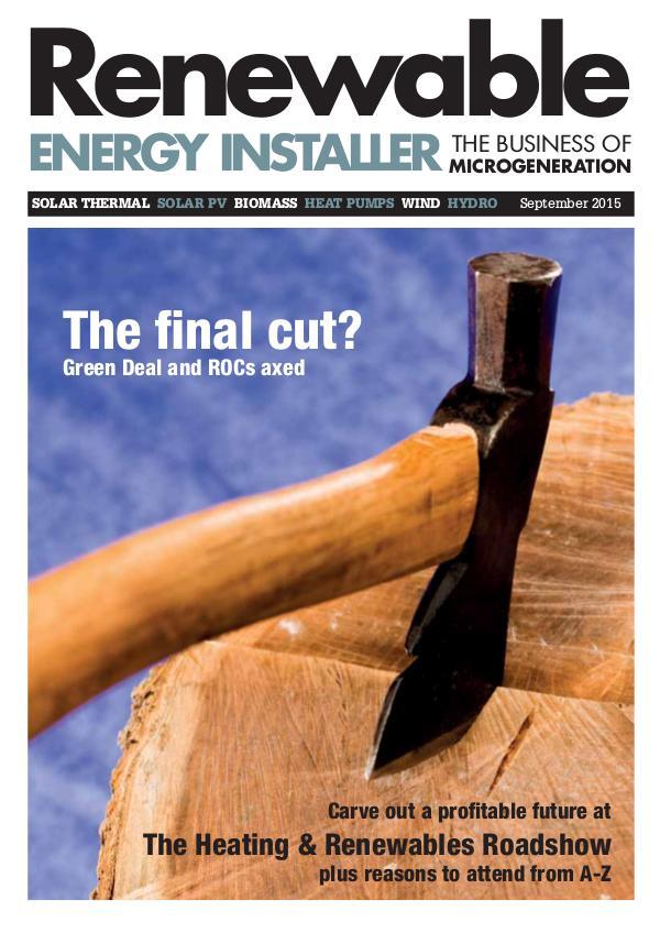 Renewable Energy Installer September 2015