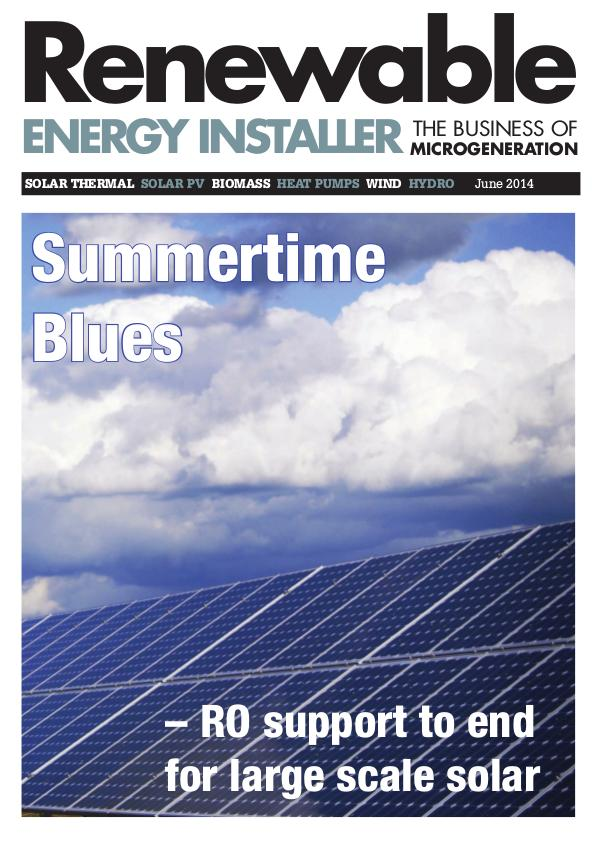 Renewable Energy Installer June 2014