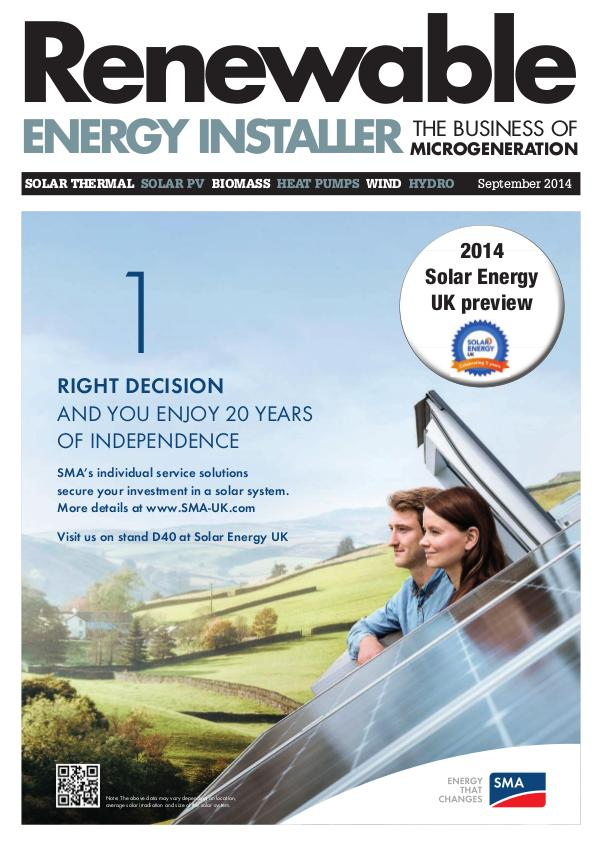 Renewable Energy Installer September 2014