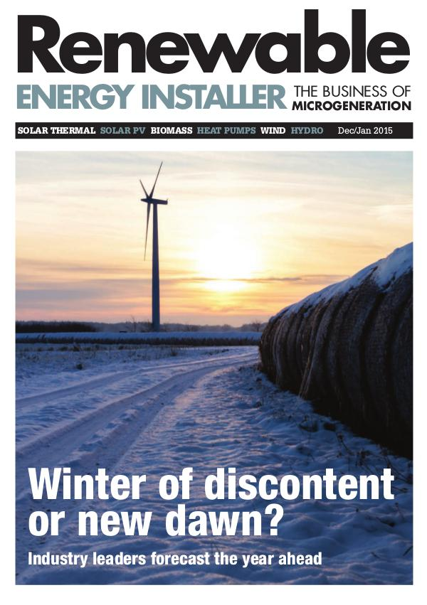 Renewable Energy Installer December/January 2015