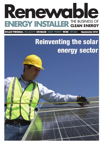 Renewable Energy Installer September 2016