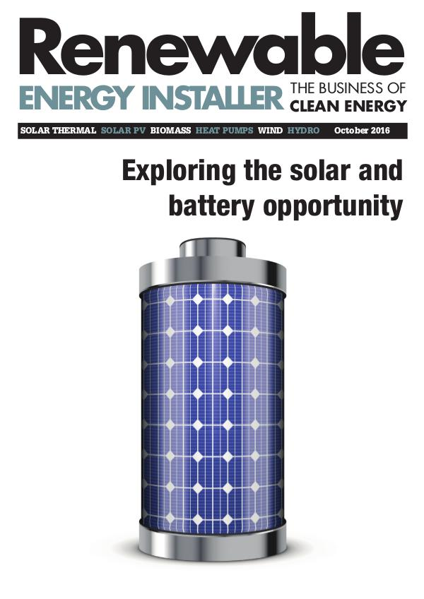 Renewable Energy Installer October 2016