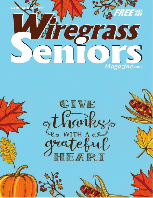 Wiregrass Seniors Magazine November 2016 November 2016