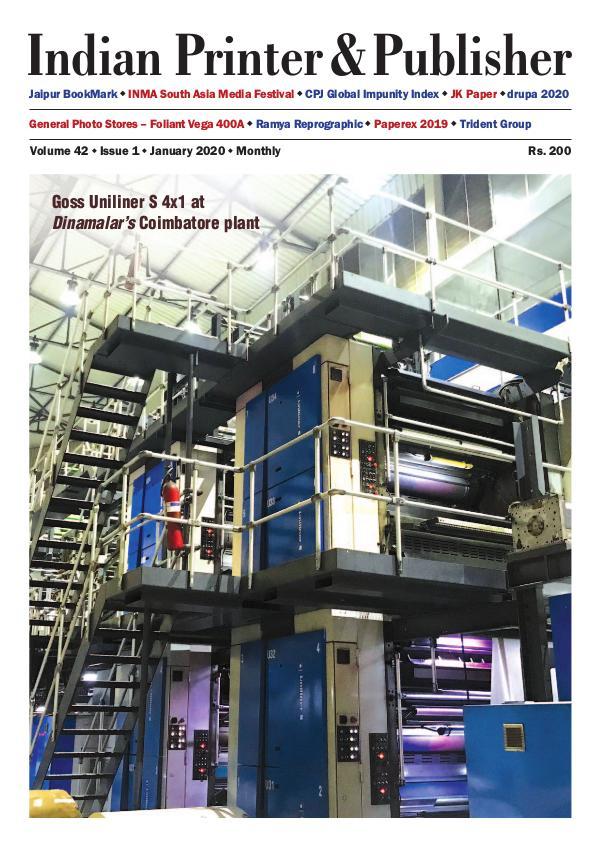 Indian Printer and Publisher - January 2020  -eMagazine IPP JANUARY 2020 - eMagazine