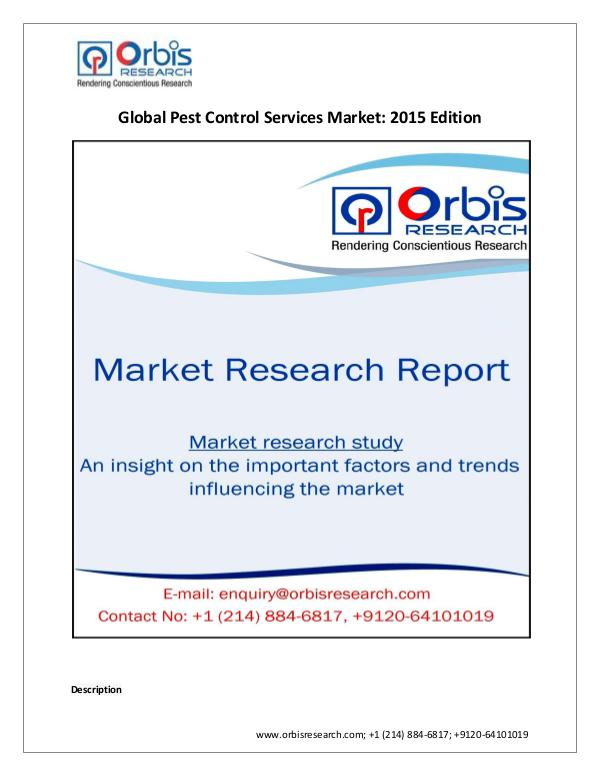 Share Analysis of Global  Pest Control Services Ma