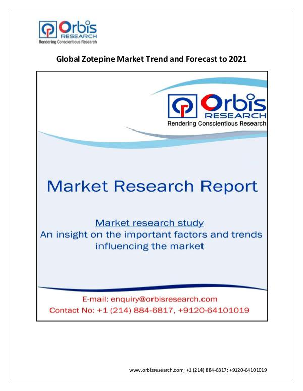 Zotepine Market : Global Trend and 2021 Forecast R