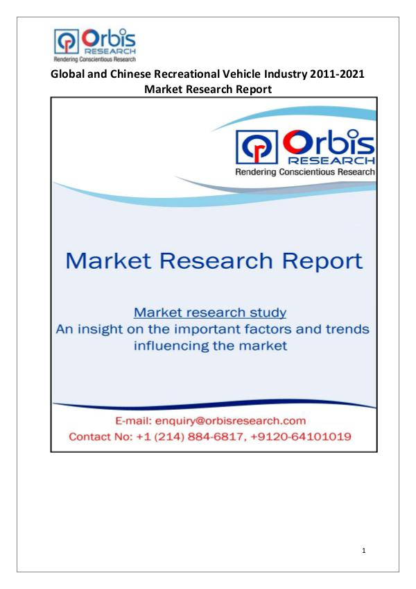 Industry Analysis Recreational Vehicle Market Worldwide and Chines