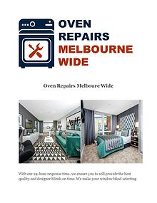 Oven Repairs Melboure Wide