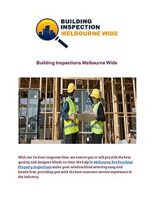 Building Inspections Melbourne Wide