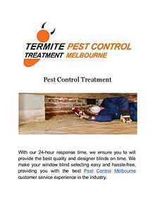 Termite Pest Control Treatment Melbourne
