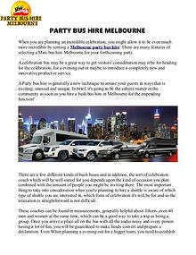 Party Bus Hire in Melbourne