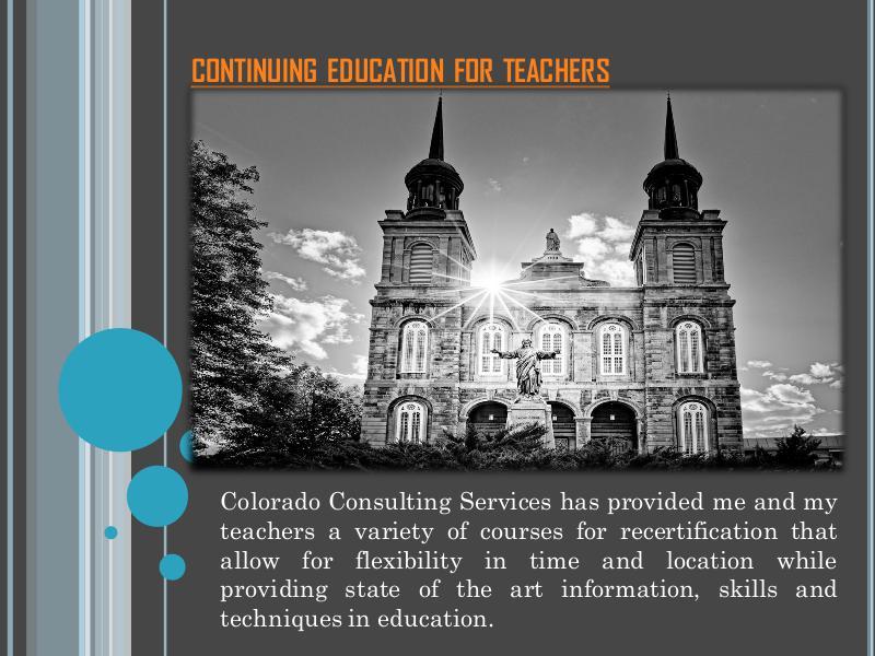 Continuing Education For Teachers ContinuingEducationForTeachers