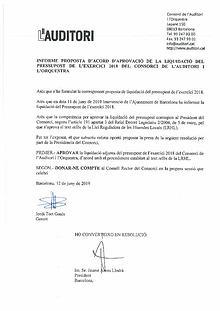 Liquidacó Pressupost 2018