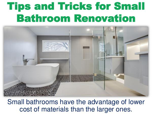 Tips and Tricks for Small Bathroom Renovation Tips and Tricks for Small Bathroom Renovation