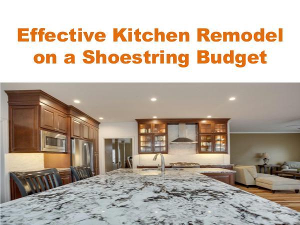 Effective Kitchen Remodel on a Shoestring Budget Virginia