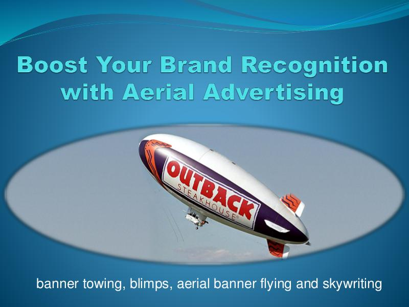 Boost Your Brand Recognition with Aerial Advertising 1