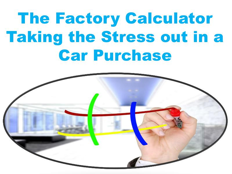 The Factory Calculator Taking the Stress out in a Car Purchase 1
