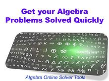 Get your Algebra Problems Solved Quickly
