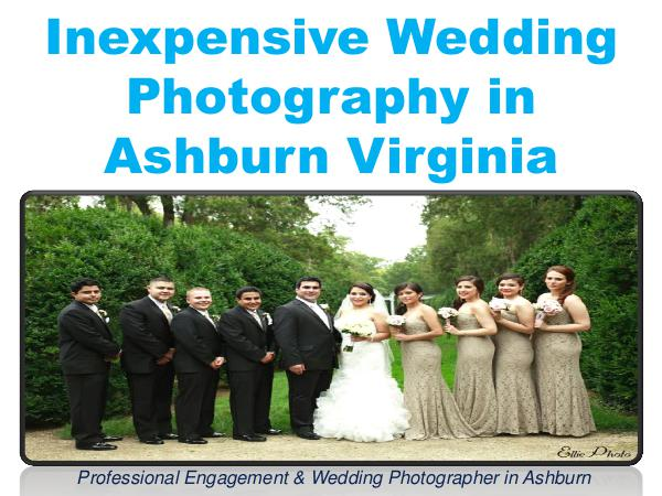 Inexpensive Wedding Photography in Ashburn Virginia 1