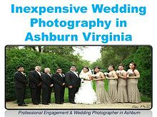 Inexpensive Wedding Photography in Ashburn Virginia