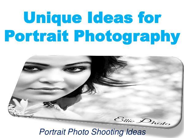Unique Ideas for Portrait Photography 1