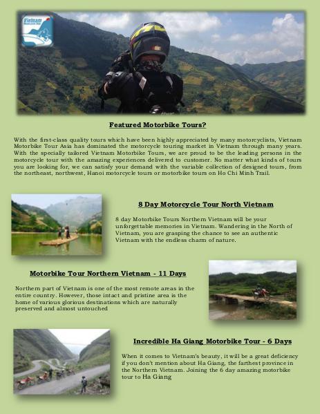Vietnam Motorbike Tours Feb. 2016