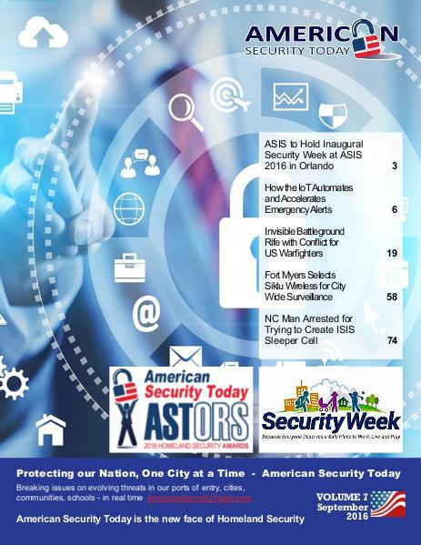 American Security Today September Digital Magazine September 2016