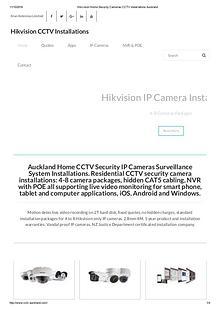 CCTVAuckland Home CCTV Security IP Cameras Surveillance System Instal