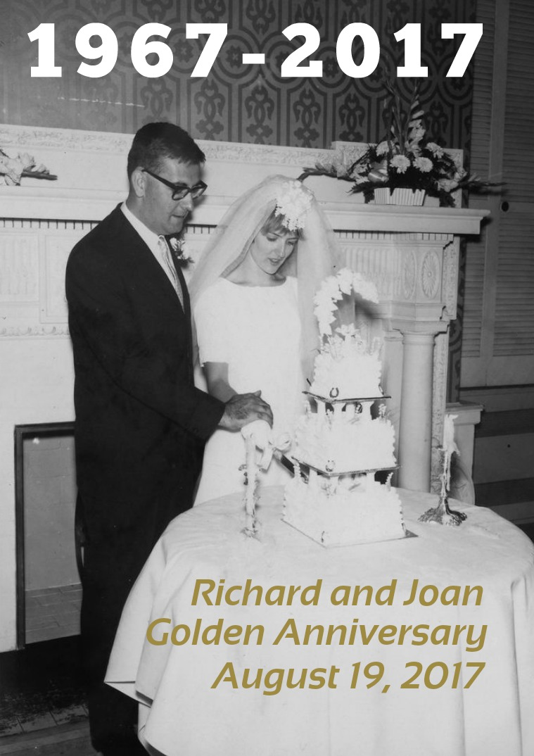 Joan and Richard 50 Years Together Golden memories