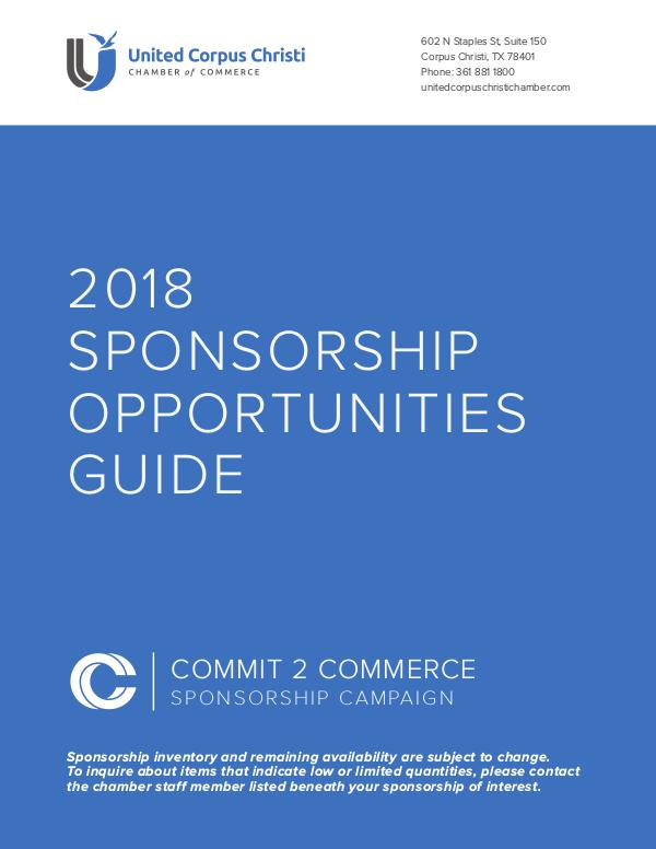 2018 C2C Campaign Book of Business Post-C2C 2018 Sponsorship Opportunities