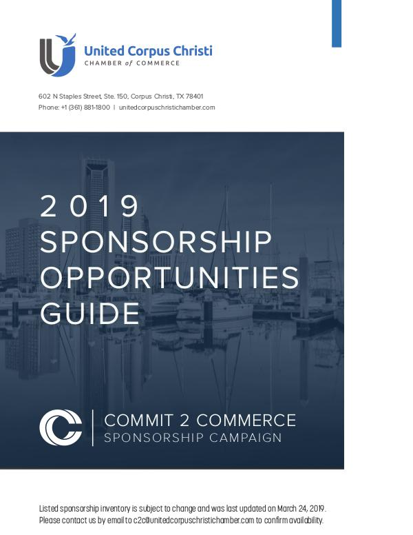 2019 Sponsorship Opportunities Guide 2019 Sponsorship Opportunities Guide (032619)