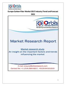Europe Carbon Fiber Market 2017-2021 Forecast Research Study